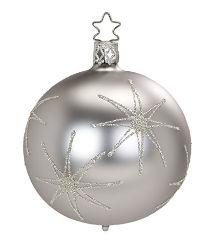 Inge-Glas Kugel Ball Evening Star 20057T008 German Glass Christmas Ornament