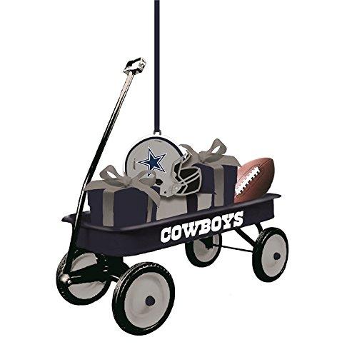 Team Sports America Dallas Cowboys NFL Team Wagon Ornament, Set of 2