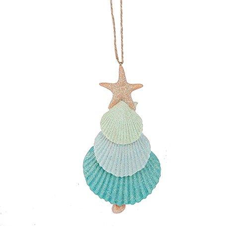 Midwest CBK 5.5″ Glittery Seashell and Starfish Ornament
