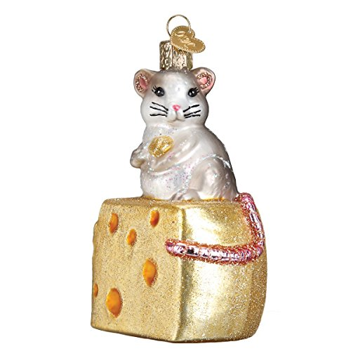 Old World Christmas Glass Blown Ornament Hungry Mouse (12503)