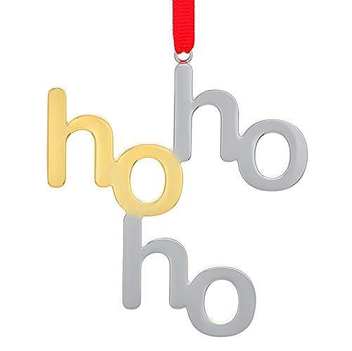 Nambe Ho Ho Ho Ornament