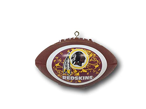 Topperscot NFL Washington Redskins Mini Replica Football Ornament