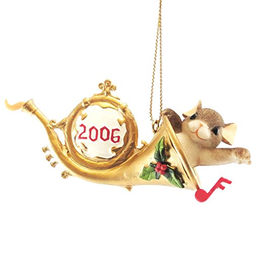 Charming Tails BEGIN THE HOLIDAY ON A HAPPY NOTE Resin Ornament Dated 2006 86154
