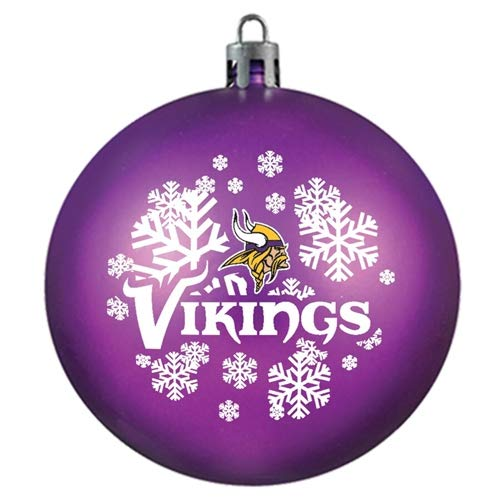 Topperscot Minnesota Vikings Snowflake Red Shatter Proof Ball Ornament