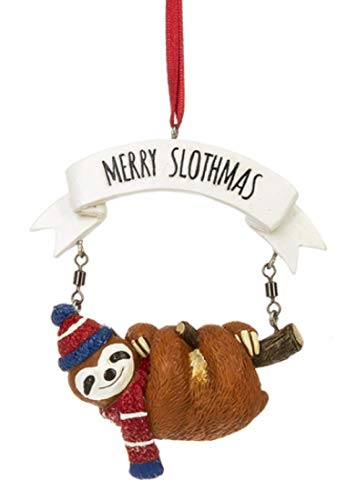 Midwest Cute Sloth Ornament – Merry Slothmas