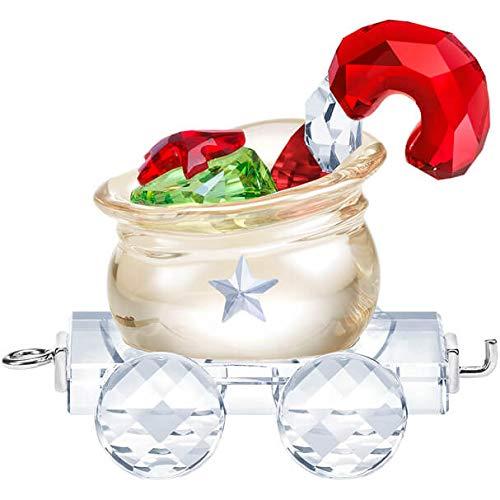 SWAROVSKI Authentic First Steps Crystal Santa's Gift Bag Wagon Christmas Ornament
