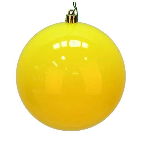 Vickerman 624081-3″ Yellow Shiny Ball Christmas Tree Ornament (12 pack) (N590878DSV)
