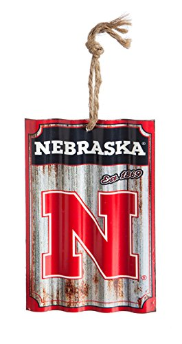 Team Sports America University of Nebraska Corrugated Metal Ornament