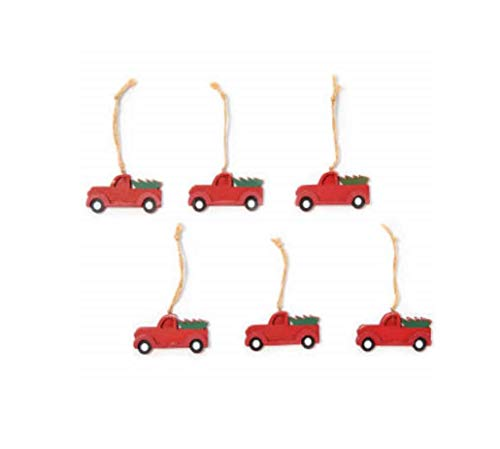 Holiday Style Winter Wonder Lane Novelty Christmas Ornaments Set of 6 (Red Truck)