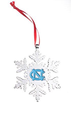 Collegiate Pulse UNC Tarheels NCAA Snowflake Christmas Ornament