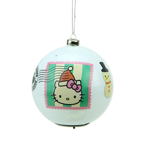 Carlton Cards 3.25″ Heirloom Multi Color LED Lighted Hello Kitty Christmas Ball Ornament