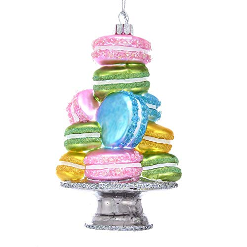Kurt-Adler Glass Ornament with S-Hook and Gift Box, Food Selection (Stacked Macaroon, NB1472)