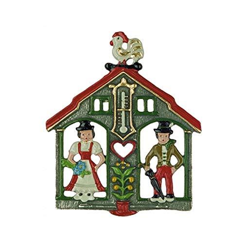 Pinnacle Peak Trading Company Weatherhouse German Pewter Christmas Tree Ornament Weather House Decoration New