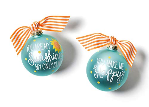 Coton Colors 100 MM You are My You are My Sunshine Glass Ornament
