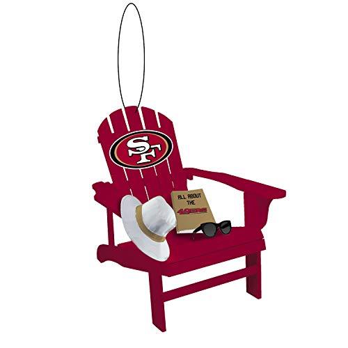Team Sports America NFL San Francisco 49ers Stunning Beach Adirondack Chair Christmas Ornament – 3″ Long x 3″ Wide x 3″ High