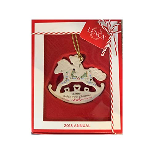 Lenox 2018 Baby's First Christmas Rocking Horse Ornament