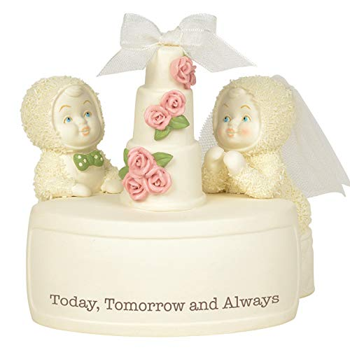 Department 56 Snowbabies Classics Today Tomorrow and Always Figurine, 4.375″, Multicolor