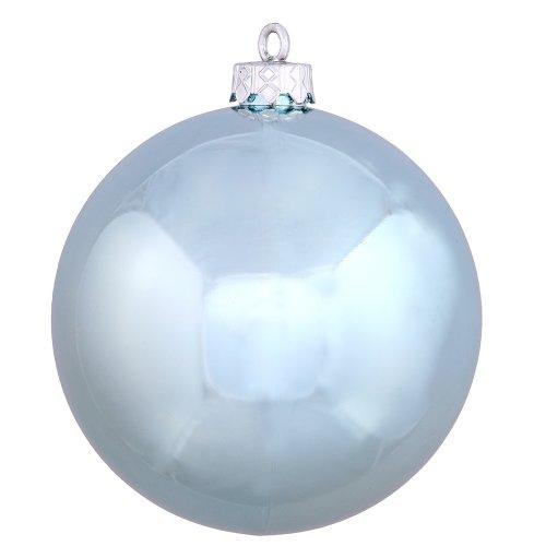 Vickerman Shatterproof Shiny Ball Ornaments, 32 per Box, 3″, Baby Blue