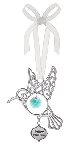 Ganz Follow Your Bliss Hanging Charm Hummingbird Ornament