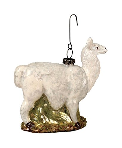 Bethany Lowe Vintage Glass Collection Llama Ornament- 4″ x 4″