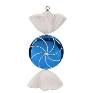 Vickerman 185″ Blue and White Swirl Candy Christmas Ornament