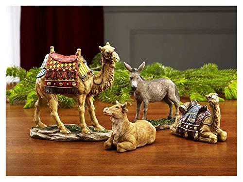 Set of 4 Christmas Nativity Animals Set – 10 inch Scale