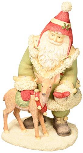 Enesco Heart of Christmas Santa's Reindeer Treats, 8.7″ Figurine, Multicolor