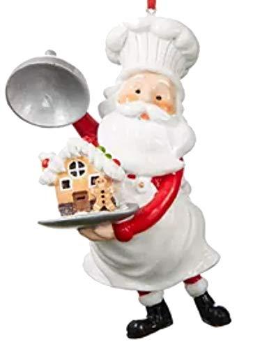 Holiday Lane Sweet Tooth Baker Santa Ornament