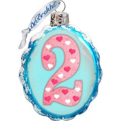 G. Debrekht No.2 Glass Ornament, Mini