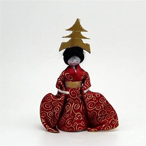 De Carlini Japanese Girl – Red Kimono – Italian Glass Christmas Tree Ornament