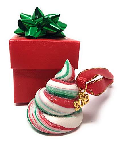 Santa's Flying Reindeer Poop Christmas Ornament