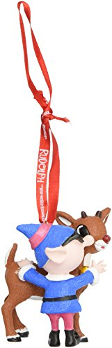 Department 56 Rudolph the Red-Nosed Reindeer and Elf Hanging Ornament