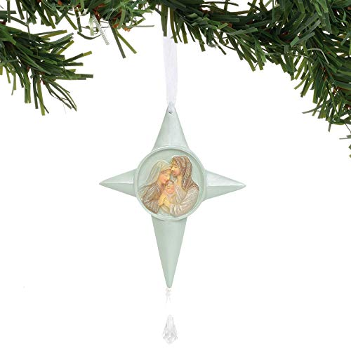 Enesco Foundations Nativity Ornament with Crystal, 5″, Multicolor