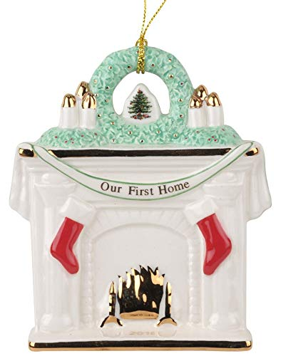 Spode Christimas Tree Our First Home Fireplace Ornament 2018