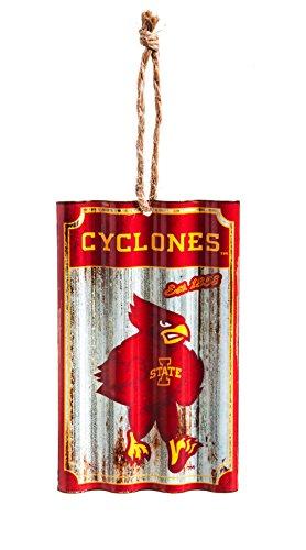 Team Sports America Iowa State University Corrugated Metal Ornament