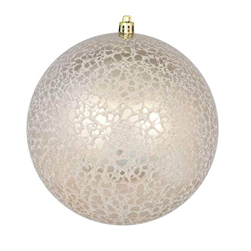 Vickerman 640036-3″ Champagne Crackle Ball Christmas Tree Ornament (12 pack) (N195338D)