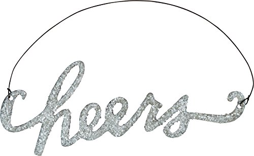 Primitives By Kathy Phil Chapman 5.75 inches x 2.25 inches Tin Word Ornament – Cheers