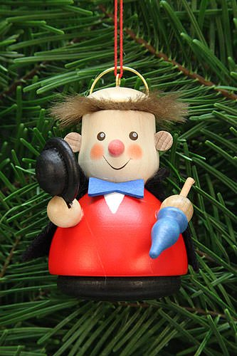 Christian Ulbricht Tree Ornament – Teeter Man Arthur, The Angel – 7,5 cm / 3 inch