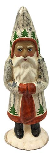 Pinnacle Peak Trading Company Ino Schaller Small Vintage Tree Décor Santa German Christmas Paper Mache