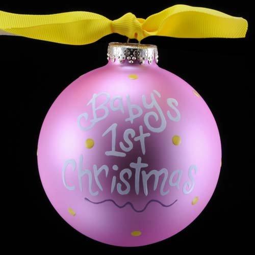 Baby's First Christmas Stork Ornament {Girl}