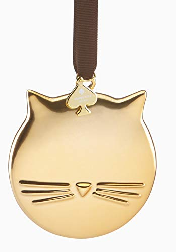 Kate Spade New York Lenox Gold CAT Ornament New in Box