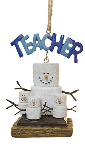 Midwest-CBK Smores Teacher Banner and Students Christmas Ornament Figurine