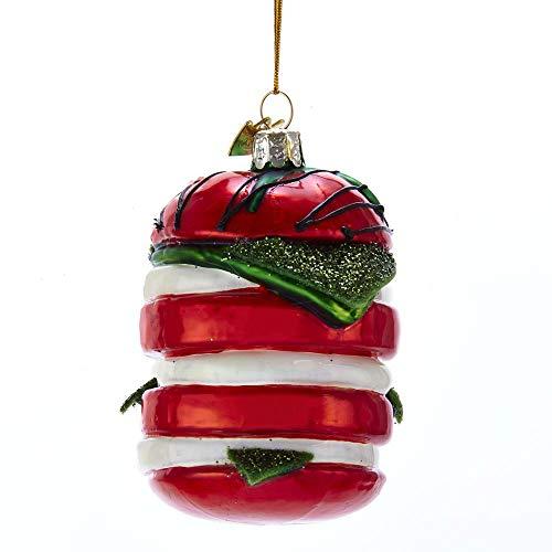 Kurt Adler Noble Gems Caprese Salad Glass Hanging Ornament, 3.5 inches Tall