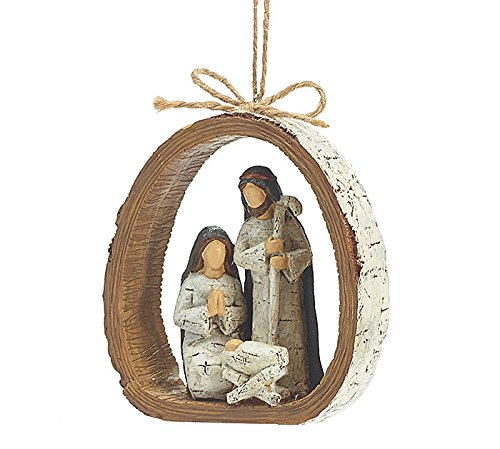 burton+Burton Holy Family Resin Ornament – Dozen