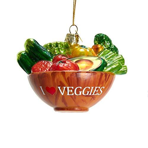 Kurt Adler Noble Gems Vegetable Bowl Glass Ornament