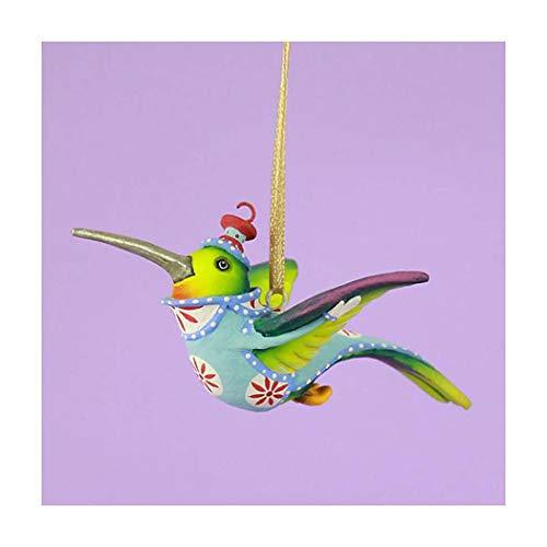 Patience Brewster Wizz Hummingbird Mini Ornament, 3.75″ Wide, 2″ Long, 1.5″ Tall