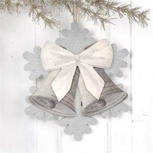 Blossom Bucket Snowflake with Bell Ornaments