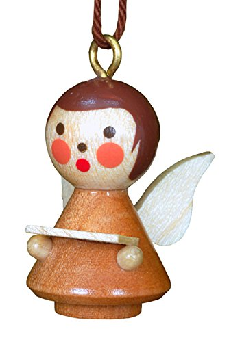 Alexander Taron 10-1322 Christian Ulbricht Ornament-Angel in Natural Finish-1″ H W x .75″ D, Brown