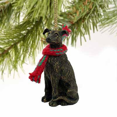 Greyhound Miniature Dog Ornament – Brindle