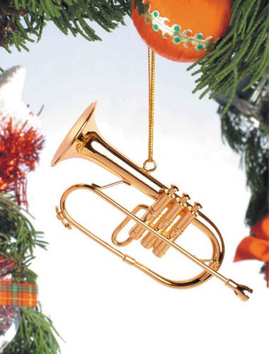 Music Treasures Co. Gold Brass Flugehorn Ornament
